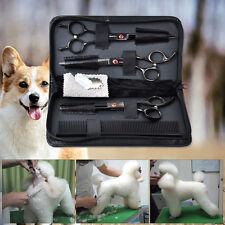"7"" Black Pro. Sharp Edge PET DOG Grooming Hair Scissors Cutting+Comb Shears Kits"