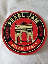 Pearl Jam sticker rare MILAN  Eddie Vedder