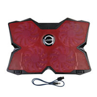 LED Adjustable Stand USB 4Fan Cooling Cooler Pad For  Laptop PC Red