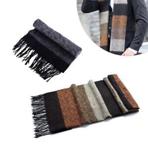 Men Winter Warm Classic Scarf Pashmina Striped Acrylic Fibers Shawls Scarves Li