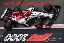 decal Alfa Romeo Sauber China 2019 Raikkonen Giovinazzi 1/43 minichamps spark F1