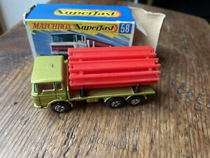 Matchbox Superfast 58 DAF Girder Truck, Original Box