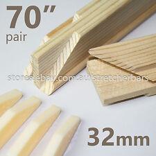 "70"" Pre-made 32mm Stretcher Bars (pair) - 32mm x 38mm - incl 4 corner wedge keys"