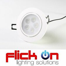 7W LED DownLight Kit - Cool White Dimmable Gimbal Recessed Ceiling Lamp + Driver