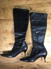 Donald J Pliner $328 Rodny Buckle Kitten Heel Knee Boots Womens Size 7.5 M