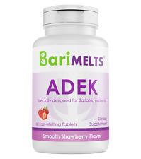 BariMelts Adek Dissolvable Bariatric Vitamins Natural Strawberry Flavor 60tablet