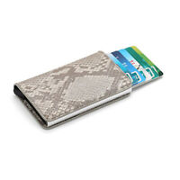 Portafoglio in pelle e metallo Unisex Uomo Donna Carte di credito Pop Up RFID