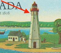 ERROR/VARIETY  = BIRD BY LIGHTHOUSE = UNLISTED Canada 1984 #1035 (1035a) [ec294]