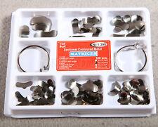 Dental Sectional Contoured Metal Matrices 35 μm Hard & 2 Rings standard & delta
