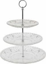 3 Tier Style Vintage Verre Gâteau Stand Mariage Cupcake Stand Alimentaire biscuit stand
