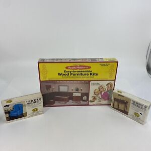 Lot Of Vintage Realife And House Of Miniatures Wooden Doll Furniture