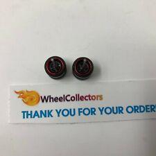 Black Rims w/ Real Riders * One Set 1/64 * Hot Wheels Matchbox * F566
