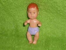 Mattel Dollhouse Barbie Brown Hair Baby Boy or Girl in Purple Diaper #2