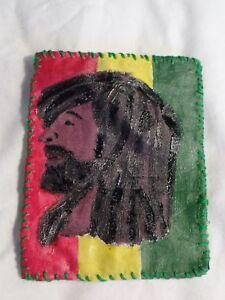 Rastafari rasta man patch dreadlocks red green gold africa jamaica bob marley
