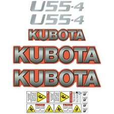Kubota U55-4 Decals U55 Repro Stickers, Decal Kit