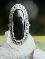 dekorativer ethno gothic ring sterling mit black onyx 6,3 g 19 mm