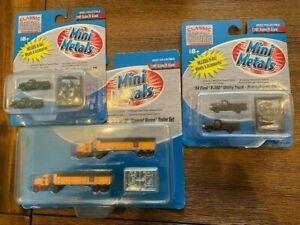 N Scale  Rake of 3 Mini Metals Trucks