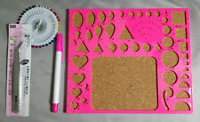 Quilling Board Template Circle Triangle Square Oval Heart Shapes + 3 Free Tools
