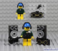 LEGO - Karaoke Singer Minifigure w/ Microphone Speakers Boombox Headset Rapper