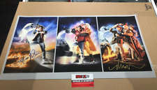 Back to The Future Trilogy Movie Poster Print Signed Michael J Fox & the Artist