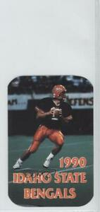 1990 Football Team Schedules Idaho State Bengals #ISBE
