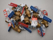 "BRASS ½"" x  ½"" 600 PSI SOLDER-ON BALL VALVE FOR WATER OIL AND GAS"