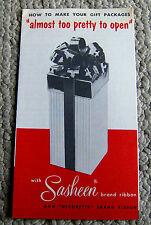 vintage 1950s brochure SASHEEN ribbon MAGIC BOW gift wrap pamphlet 3M product