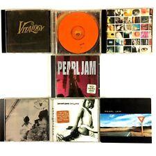 Pearl Jam 7 CD Lot Used Grunge Ten Vitalogy Self Titled No Code Yield  More