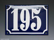 Emaux, E-Mail-numéro de maison 195 in bleu/blanc pour 1960
