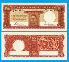 Australia 10 Pounds 1940. UNC - Reproduction