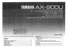 Yamaha AX-900-U Amplifier Owners Manual