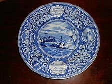AN EARLY ENOCH WOODS BURSLEM U.S. INDEPENDENCE PLATE