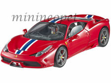 HOT WHEELS ELITE  BLY31 FERRARI 458 SPECIALE 1/18 DIECAST MODEL CAR RED
