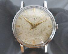 100% Authentic CYMA CYMAFLEX Hand Wind Mens Watch 17Jewels Cal.R459 Swiss Made