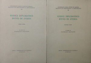CODICE DIPLOMATICO SVEVO DI AVERSA  di C. Salvati  -Arte Tipografica 1980