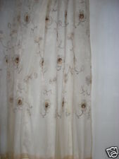 New Brown Organza Embroidered Floral Curtain 150x260cm