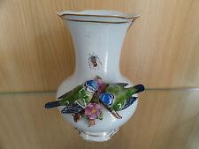 Vase mit Blaumeisen  Thür. Porzellan Unterweissbach Handmalerei handpainted