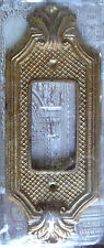 Dimmer Switch Plate Set of 4 Antique Gold Tropical