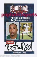 ROBERT ALFORD Signed/Autographed 2013 SENIOR BOWL CARD Southeastern La. w/COA