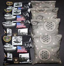 US ARMY MILITARY Cornhole Bean Bags Patriotic BAGGO TOSS GAME Quality Handmade!