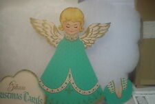 ANGEL STORE DISPLAY-GIBSON CHRISTMAS CARDS 1950-60 MERCANTILE