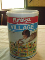 VINTAGE TOY 1974 PLAYSKOOL BLOCKS VILLAGE