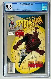 Amazing Spider-Man #401 / CGC 9.6 NM+ / Marvel 1995 / PETER PARKER FUGITIVE