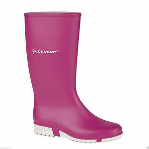 Womens Girs Dunlop Waterproof Wellington Wellies Winter Rubber Boots UK 13 - 8
