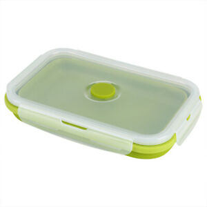 800ml Silicone Foldable Portable Lunchbox Bowl Folding Food Storage Container