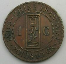 INDOCHINE 1 CENT 1892 #io 123 XYZ