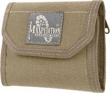 "Maxpedition CMC Wallet Khaki Closed empty size 5"" L x 3.5"" H x 1"" W New"