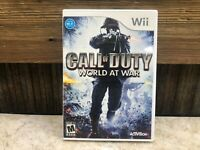 Call of Duty: World at War (Nintendo Wii, 2008) COMPLETE, TESTED FREE SHIPPING
