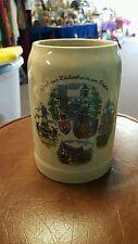 beer coffee stein mug vintage kleiber souvenir mancave glass bavaria w.Germany
