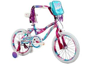 "18"" Kids Bike Girls 18-inch Wheels Bicycle with Training Wheels Pouch 3.8"" & Up"